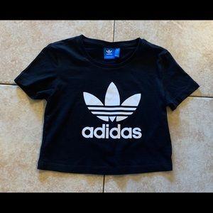 Girls Adidas Cropped Tee Top 10